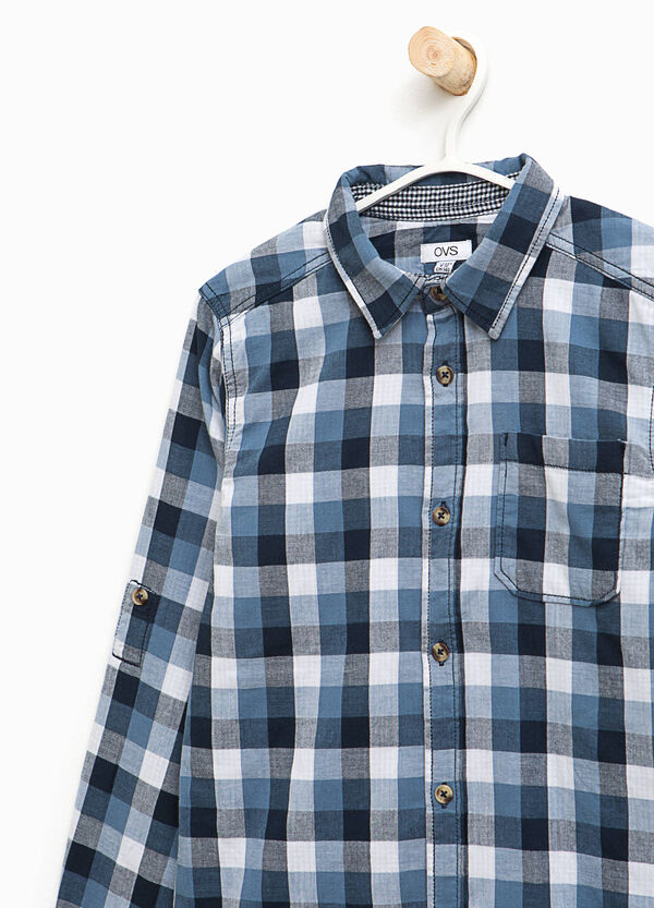 Checked cotton shirt | OVS