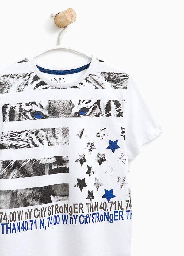 T-shirt con maxi stampa in cotone | OVS