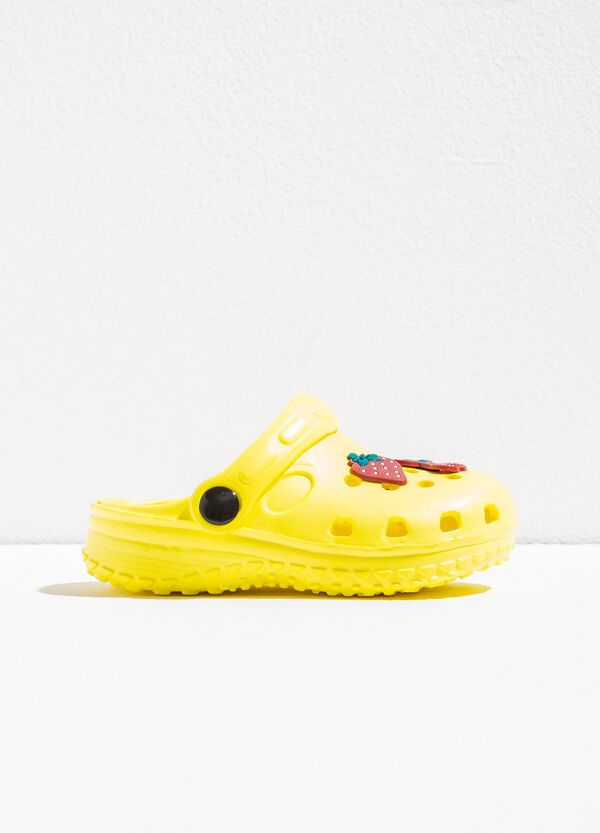 Openwork slip-ons with fruit patch | OVS