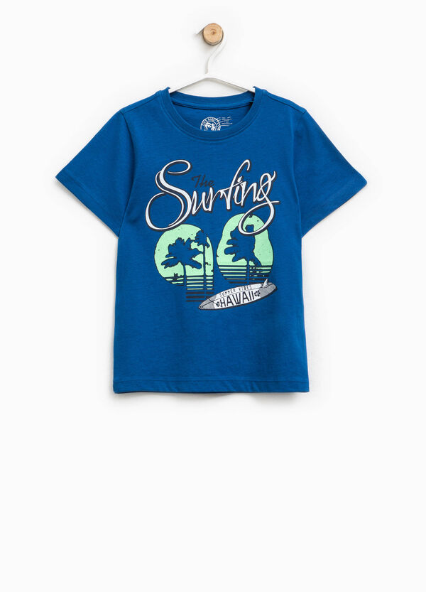 Printed T-shirt in 100% cotton   OVS
