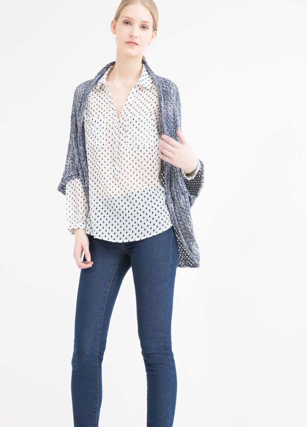 Cardigan in misto cotone tricot | OVS
