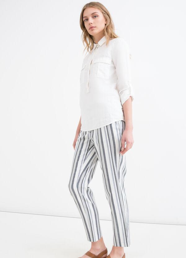 Striped stretch trousers | OVS
