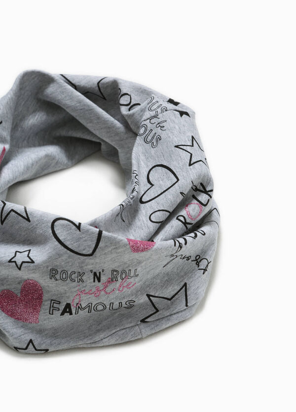 Patterned neck warmer in stretch cotton | OVS