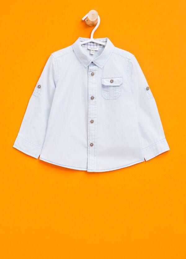 Camicia in puro cotone tinta unita | OVS