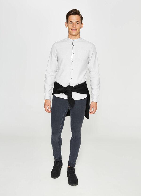 Korean cotton casual tartan shirt | OVS