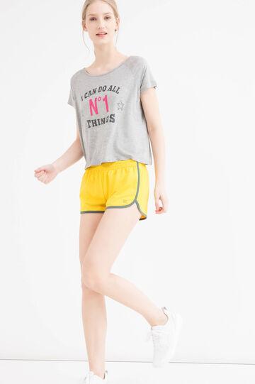 Stretch gym shorts.