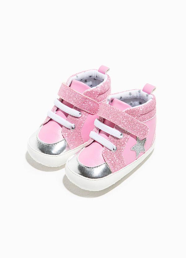 Sneakers alte glitterate con stella | OVS