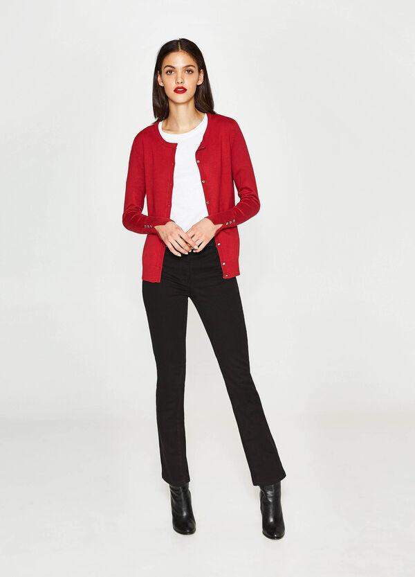 Solid colour viscose cardigan   OVS