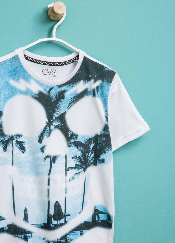 T-shirt in cotone girocollo stampata   OVS
