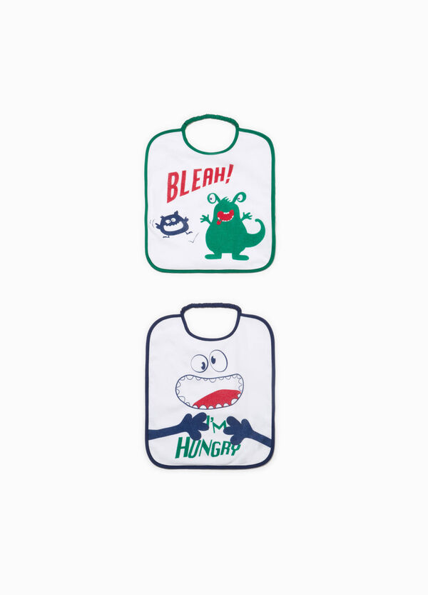 Two-pack printed cotton bibs | OVS