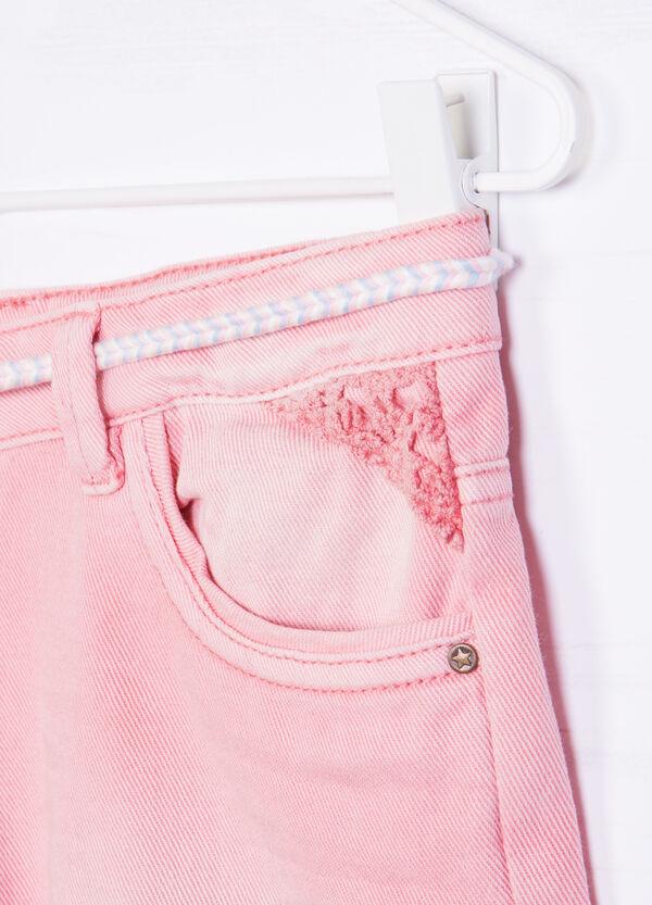 Denim shorts with small belt   OVS
