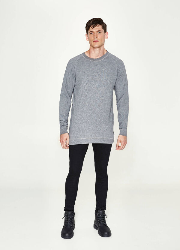 Cotton blend long pullover | OVS