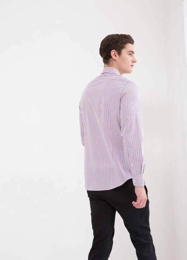 Camicia slim fit puro cotone quadretti   OVS