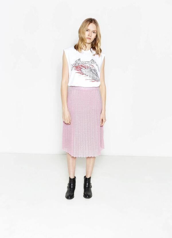 Camiseta en mezcla de algodón con estampado | OVS