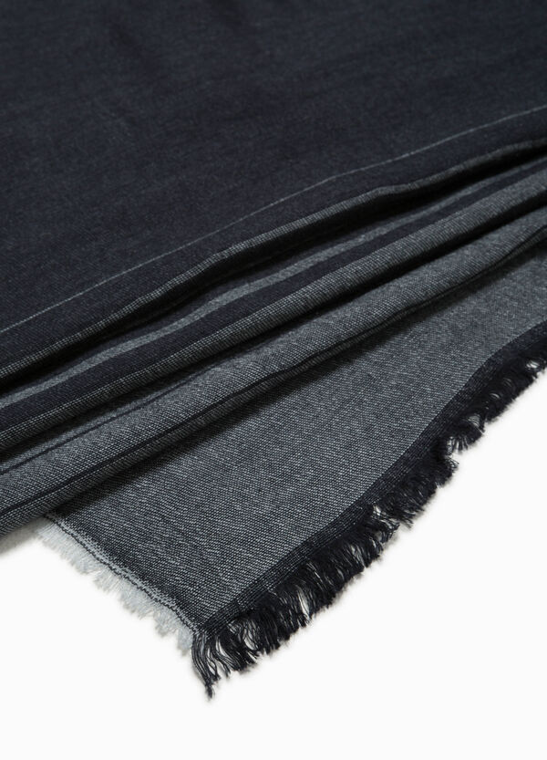 Striped modal and wool scarf | OVS