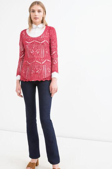 Pullover traforato tricot