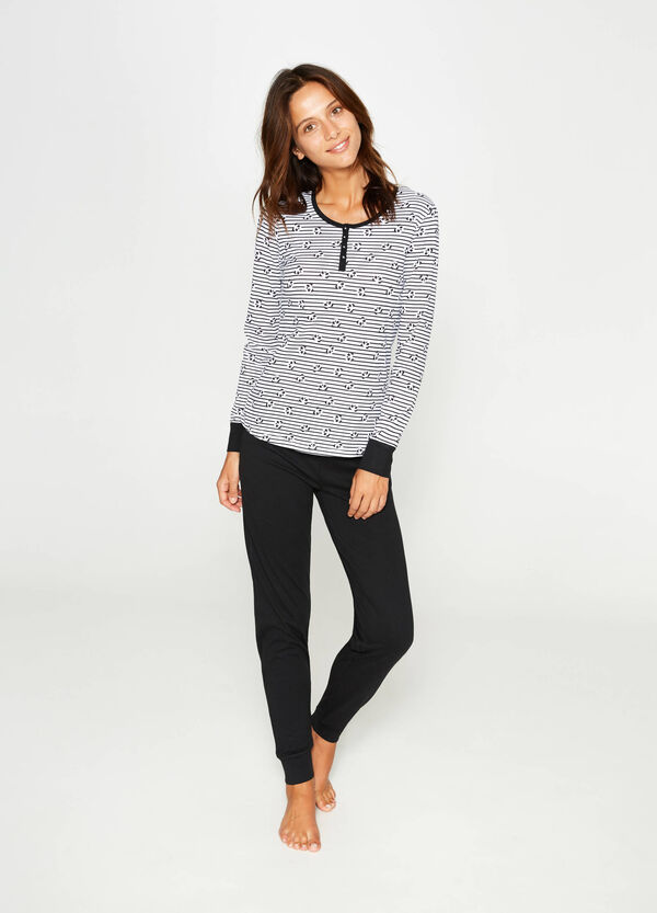 Striped and panda cotton pyjamas | OVS