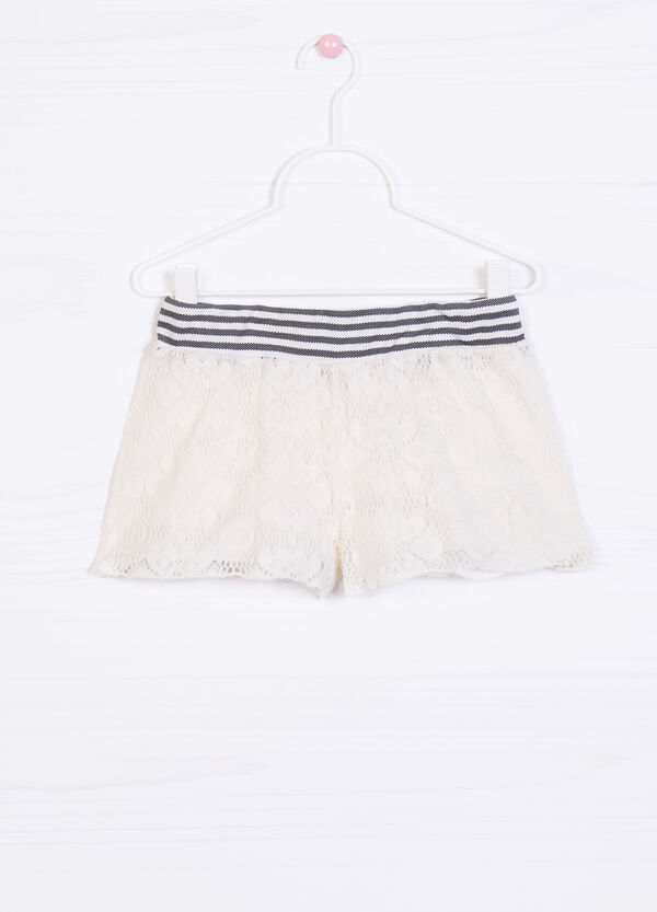 Striped pattern shorts in 100% cotton   OVS