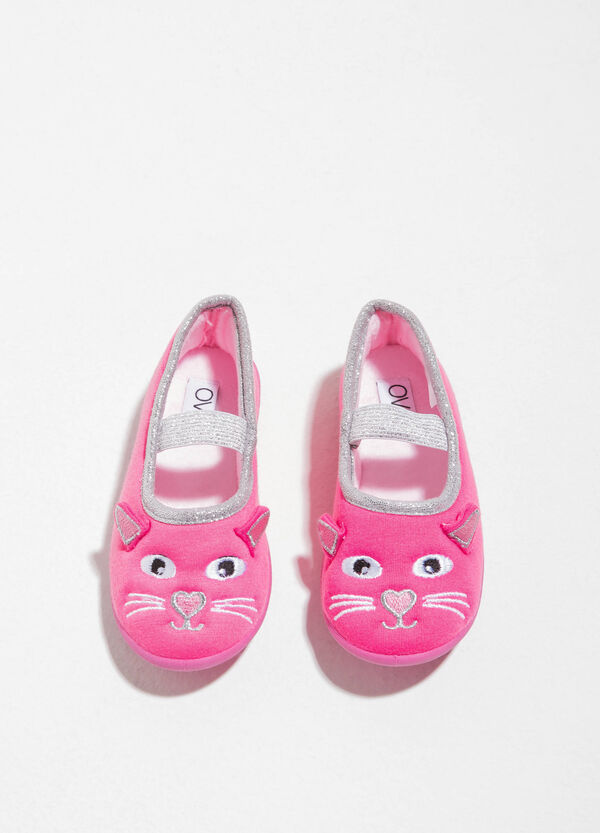 Ballerina slippers with animal embroidery | OVS