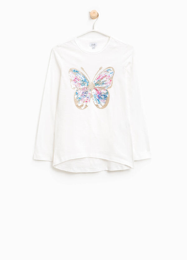 T-shirt in cotone stampa farfalla | OVS