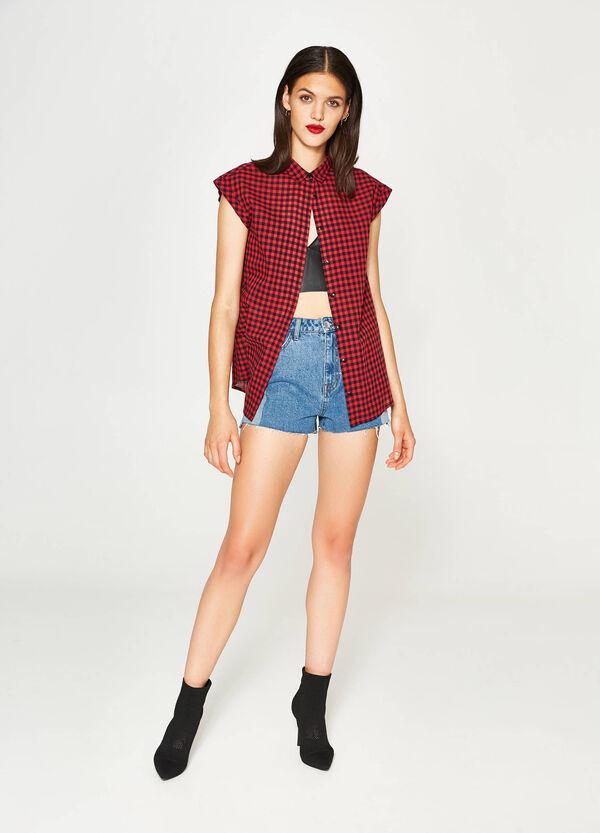 100% cotton check shirt   OVS