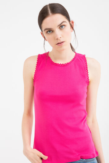 100% cotton top with openwork inserts