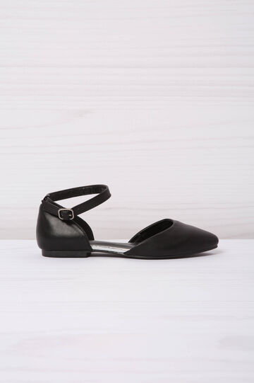 Leather look shoes with strap