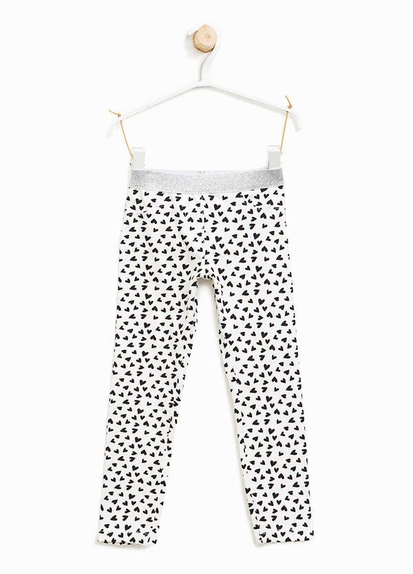 All-over heart print leggings | OVS