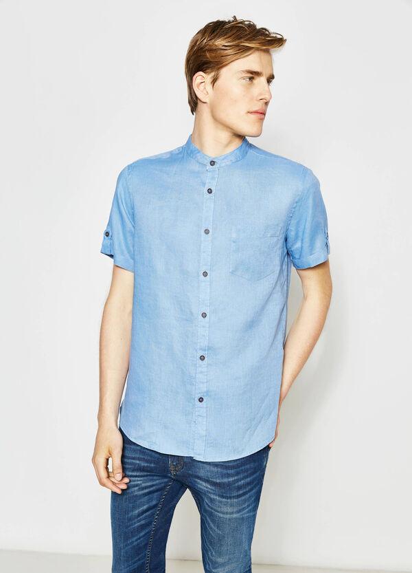 Camicia casual regular fit puro lino   OVS