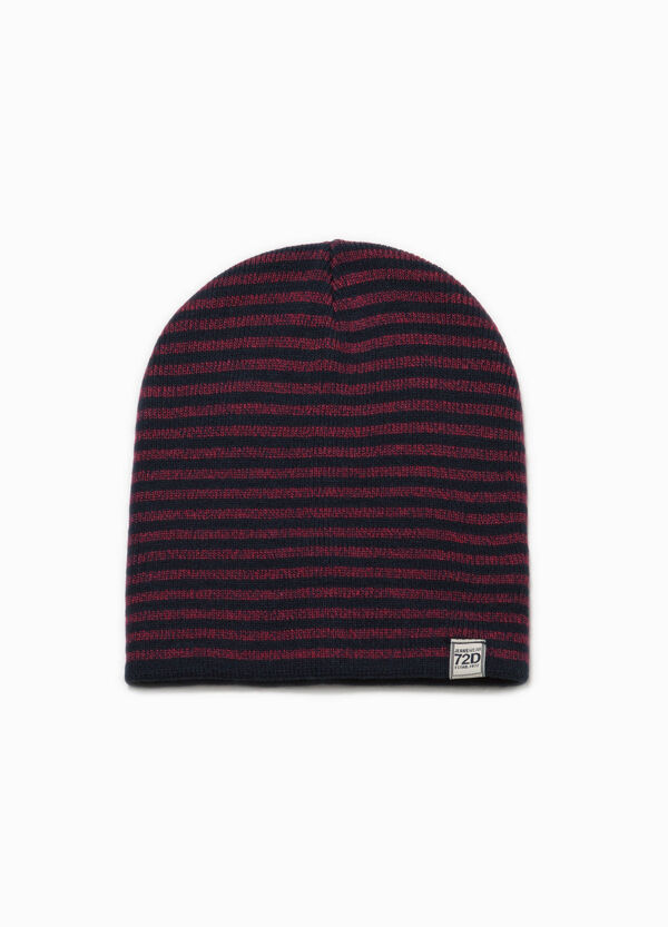 Beanie cap with striped pattern | OVS