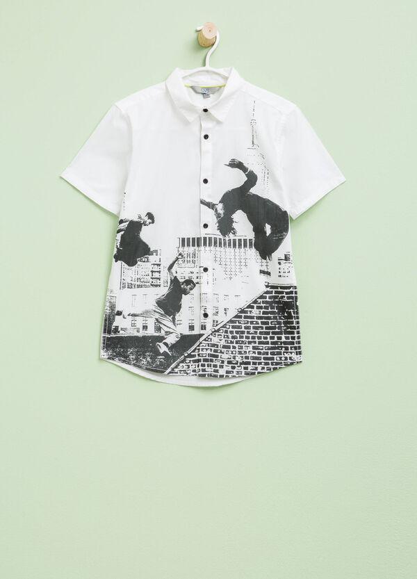 Camicia in cotone con stampa | OVS