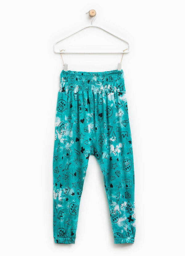 Low-rise patterned trousers | OVS