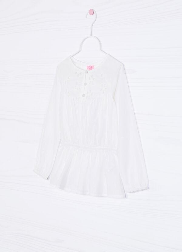 Camicia misto cotone traforata | OVS