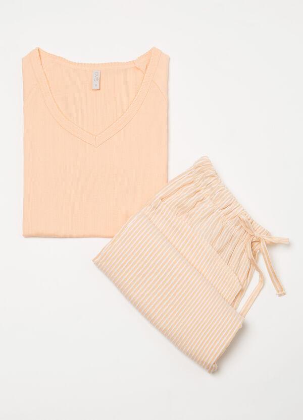 Striped patterned pyjamas in 100% cotton | OVS