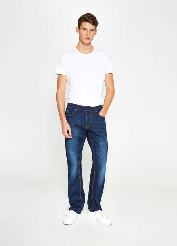 Worn-effect comfort-fit stretch jeans | OVS