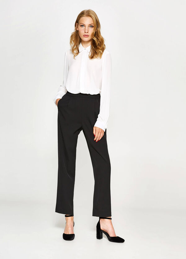 Stretch trousers with pleating | OVS