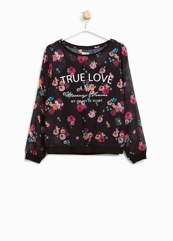T-shirt semitrasparente floreale | OVS