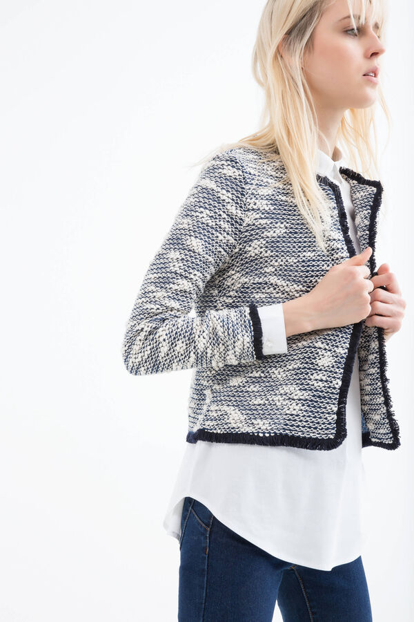 Blazer misto cotone con frange | OVS