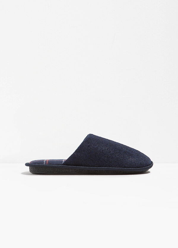 Fabric slippers with tartan inner sole | OVS
