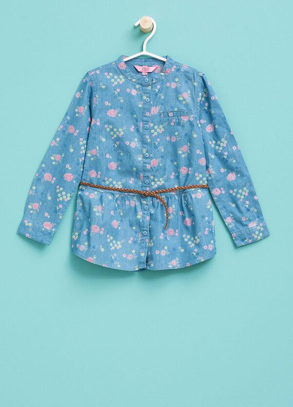 Long floral denim shirt | OVS