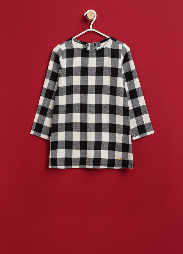 100% cotton check dress | OVS