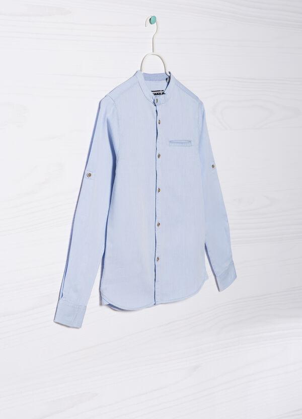 Camicia cotone colletto alla coreana   OVS