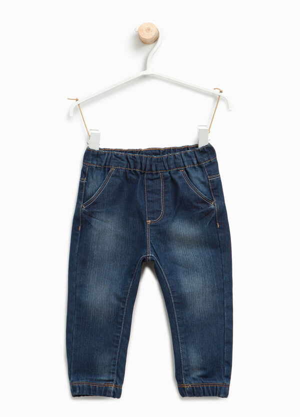 Jogger-fit jeans with elasticated waist | OVS