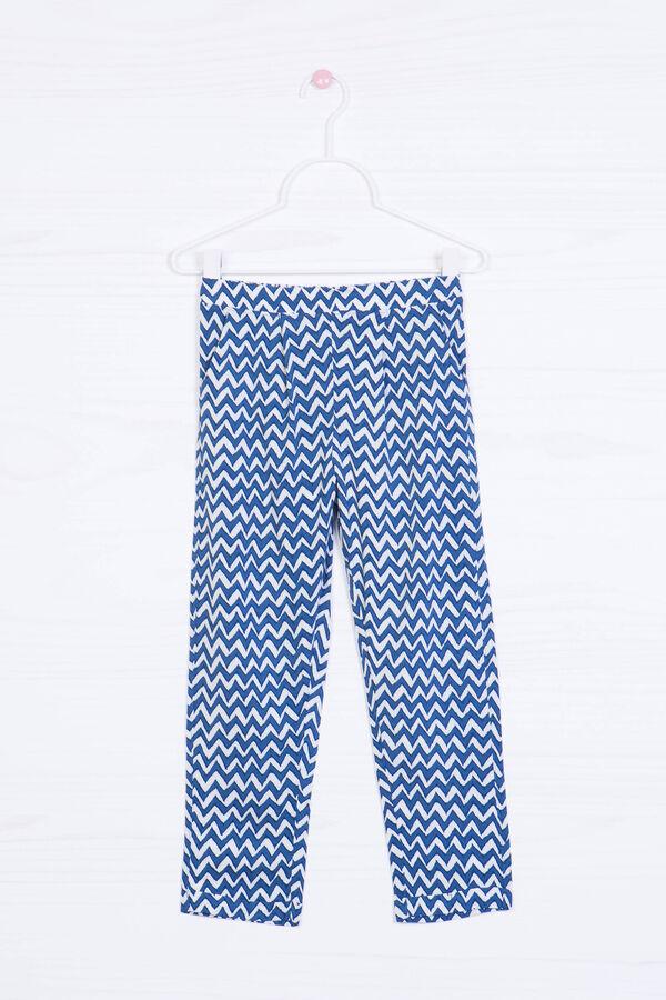 Pantaloni loose fit viscosa stampa | OVS
