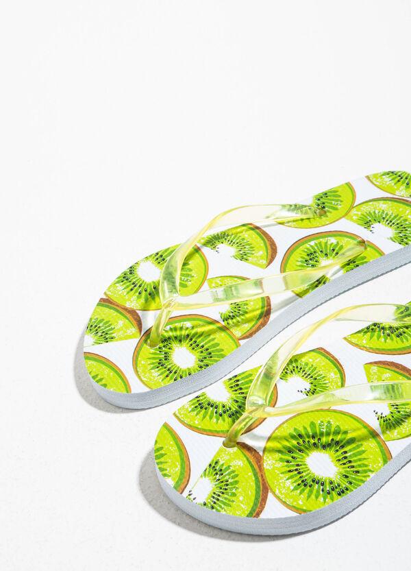 Infradito in gomma fantasia frutta | OVS