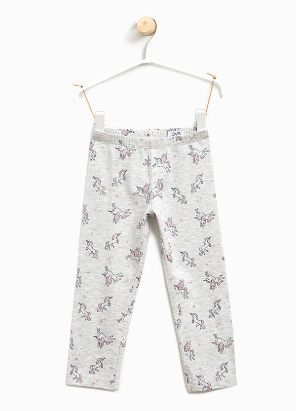 Leggings cotone fantasia unicorni | OVS
