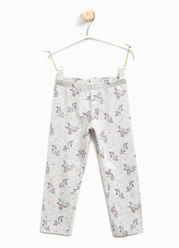 Cotton leggings with unicorn pattern | OVS