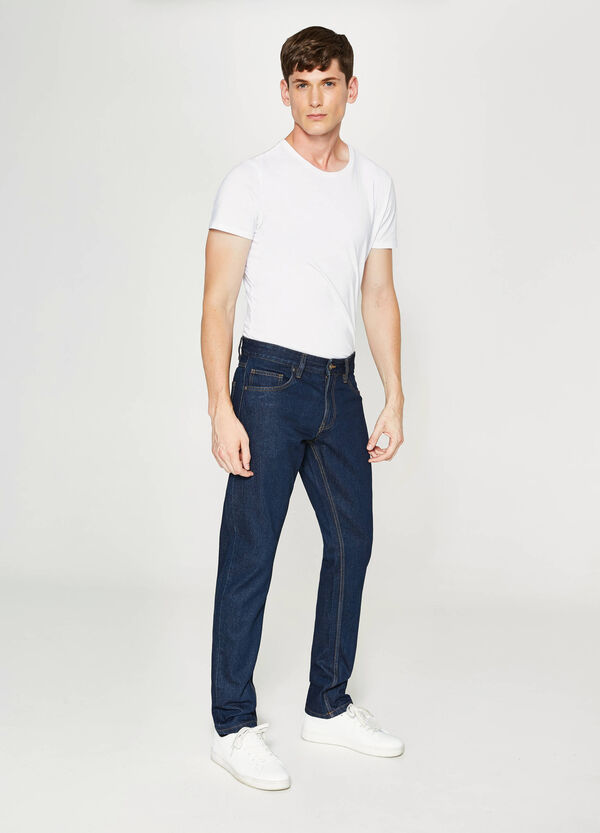 Solid colour straight-fit jeans | OVS