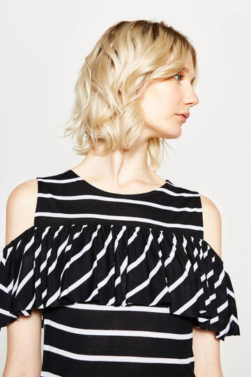 Striped T-shirt with flounce