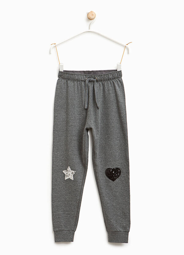 Pantaloni tuta cotone paillettes | OVS